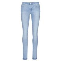 vaatteet Naiset Skinny-farkut Levi's 711 SKINNY Ruosteenvärinen / Wire