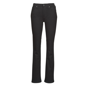 vaatteet Naiset Bootcut-farkut Levi's 725 HIGH RISE BOOTCUT Musta