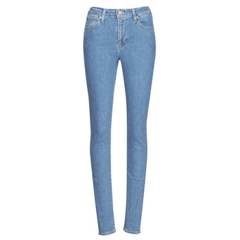 vaatteet Naiset Skinny-farkut Levi's 721 HIGH RISE SKINNY Los / Angeles / Musta / vedensininen