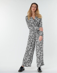 vaatteet Naiset Jumpsuits / Haalarit Only ONLOPHELIA Black / White