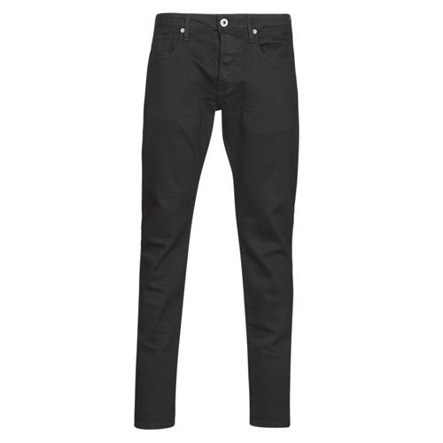 vaatteet Miehet Slim-farkut G-Star Raw 3301 SLIM Black