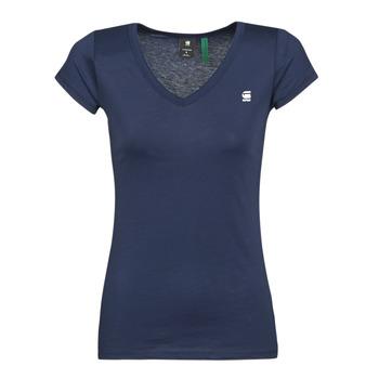 vaatteet Naiset Lyhythihainen t-paita G-Star Raw EYBEN SLIM V T WMN SS Blue