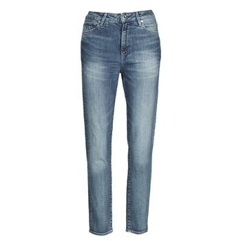 vaatteet Naiset Suorat farkut G-Star Raw 3301 HIGH STRAIGHT 90'S ANKLE WMN Blue
