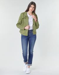 vaatteet Naiset Suorat farkut G-Star Raw MIDGE MID STRAIGHT WMN Kaki