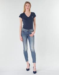 vaatteet Naiset Skinny-farkut G-Star Raw Arc 3D Mid Skinny Wmn Blue