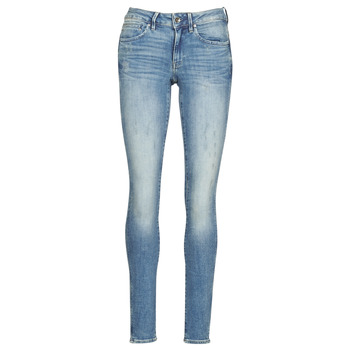 vaatteet Naiset Skinny-farkut G-Star Raw Midge Zip Mid Skinny Wmn Blue