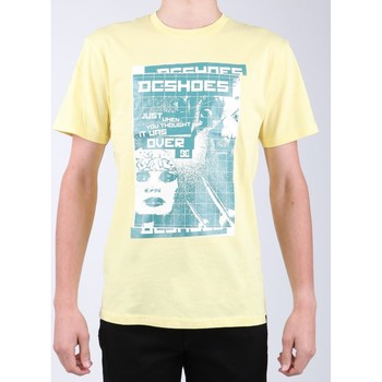 vaatteet Miehet Lyhythihainen t-paita DC Shoes DC SEDYZT03769-YZL0 yellow