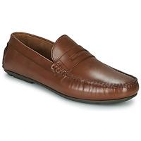 kengät Miehet Mokkasiinit André SLOTI Cognac