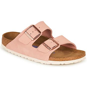 kengät Naiset Sandaalit Birkenstock ARIZONA SFB LEATHER Pink