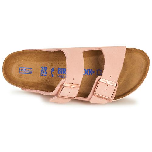 Birkenstock Arizona Sfb Leather Pink - Ilmainen Toimitus- Kengät Sandaalit Naiset 77