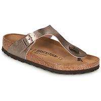 kengät Naiset Varvassandaalit Birkenstock GIZEH Bronze