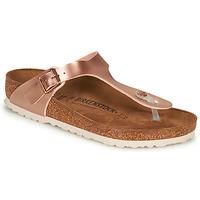 kengät Naiset Varvassandaalit Birkenstock GIZEH Pink / Kulta