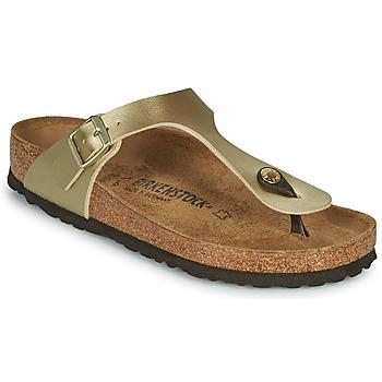 kengät Naiset Varvassandaalit Birkenstock GIZEH Kulta