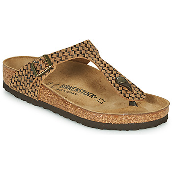 kengät Naiset Varvassandaalit Birkenstock GIZEH LEATHER Brown