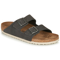 kengät Miehet Sandaalit Birkenstock ARIZONA LEATHER Grey / Fonce