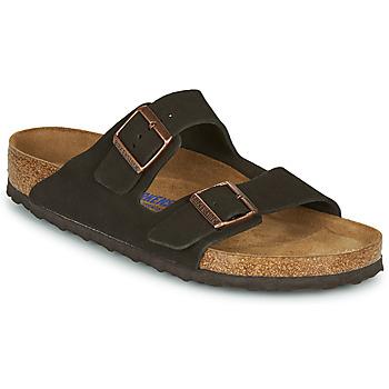 kengät Miehet Sandaalit Birkenstock ARIZONA SFB LEATHER Ruskea