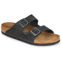 kengät Miehet Sandaalit Birkenstock ARIZONA SFB LEATHER Black