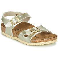 kengät Tytöt Sandaalit ja avokkaat Birkenstock RIO Kulta