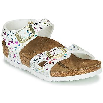 kengät Tytöt Sandaalit ja avokkaat Birkenstock RIO White / Multicolour