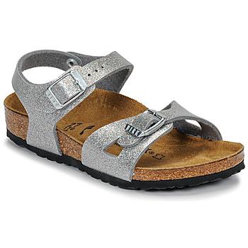 kengät Tytöt Sandaalit ja avokkaat Birkenstock RIO Glitter / Hopea