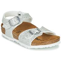 kengät Tytöt Sandaalit ja avokkaat Birkenstock RIO PLAIN White