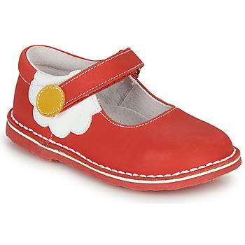 kengät Tytöt Balleriinat André PAQUERETTE Red