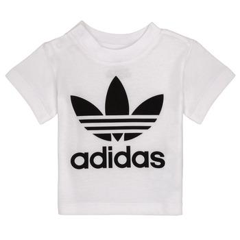 vaatteet Lapset Lyhythihainen t-paita adidas Originals MAELYS Valkoinen
