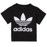 vaatteet Lapset Lyhythihainen t-paita adidas Originals MARGOT Musta