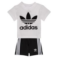vaatteet Lapset Kokonaisuus adidas Originals CAROLINE White / Black