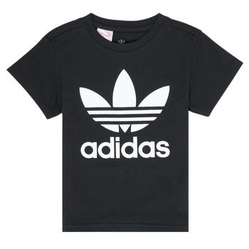 vaatteet Lapset Lyhythihainen t-paita adidas Originals LEILA Musta
