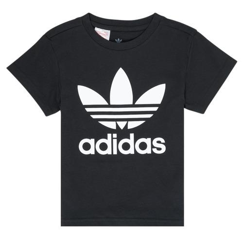 vaatteet Lapset Lyhythihainen t-paita adidas Originals LEILA Black