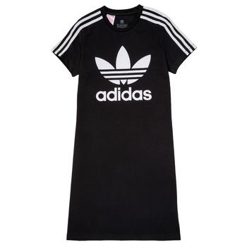 vaatteet Tytöt Lyhyt mekko adidas Originals SALOME Musta