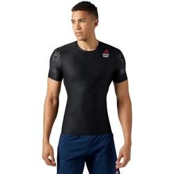 vaatteet Miehet Lyhythihainen t-paita Reebok Sport Crossfit RC Compression Mustat