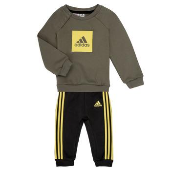 vaatteet Pojat Kokonaisuus adidas Performance MERLO Grey / Yellow