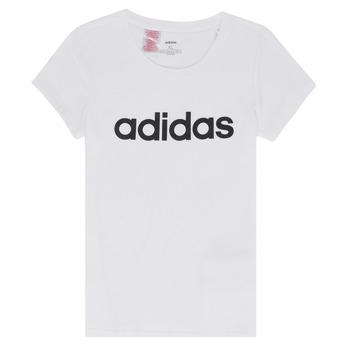 vaatteet Tytöt Lyhythihainen t-paita adidas Performance NELIZO White