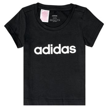 vaatteet Tytöt Lyhythihainen t-paita adidas Performance NATRAZ Black