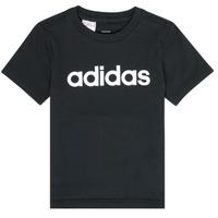 vaatteet Pojat Lyhythihainen t-paita adidas Performance NATAZO Black