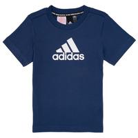 vaatteet Pojat Lyhythihainen t-paita adidas Performance BRIAN Laivastonsininen