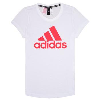 vaatteet Tytöt Lyhythihainen t-paita adidas Performance ELIOTE White