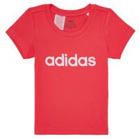 vaatteet Tytöt Lyhythihainen t-paita adidas Performance MAKIT Pink