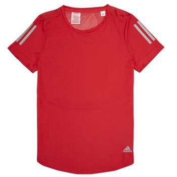 vaatteet Tytöt Lyhythihainen t-paita adidas Performance MELINDA Red