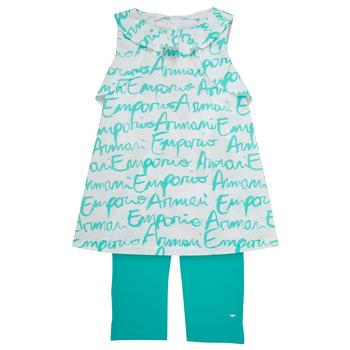 vaatteet Tytöt kokonaisuus Emporio Armani Adel White / Blue