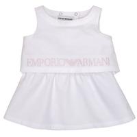 vaatteet Tytöt Lyhyt mekko Emporio Armani Alberic Valkoinen