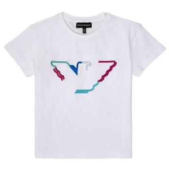 vaatteet Tytöt Lyhythihainen t-paita Emporio Armani Amin White