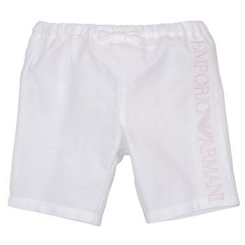 vaatteet Tytöt Shortsit / Bermuda-shortsit Emporio Armani Aniss White