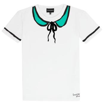 vaatteet Tytöt Lyhythihainen t-paita Emporio Armani Anthonin White