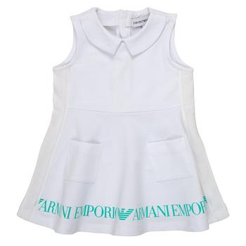 vaatteet Tytöt Lyhyt mekko Emporio Armani Apollinaire Valkoinen