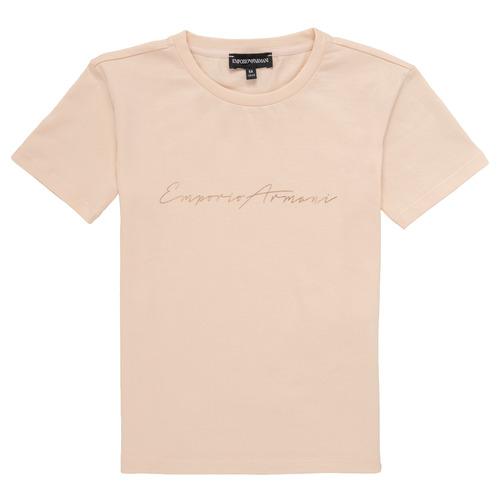vaatteet Tytöt Lyhythihainen t-paita Emporio Armani Armel Vaaleanpunainen