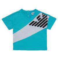vaatteet Pojat Lyhythihainen t-paita Emporio Armani Alois Blue / White
