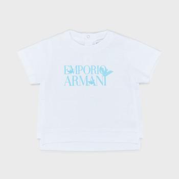 vaatteet Pojat Lyhythihainen t-paita Emporio Armani Arthus White
